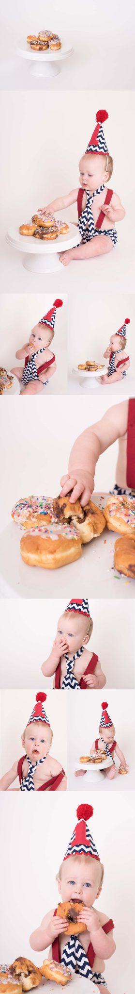 Camden Demerly Is One | A Donut Smash Cake | Luminant Photography | Lafayette, Indiana Photographer | Lafayette, Indiana Family Photographer