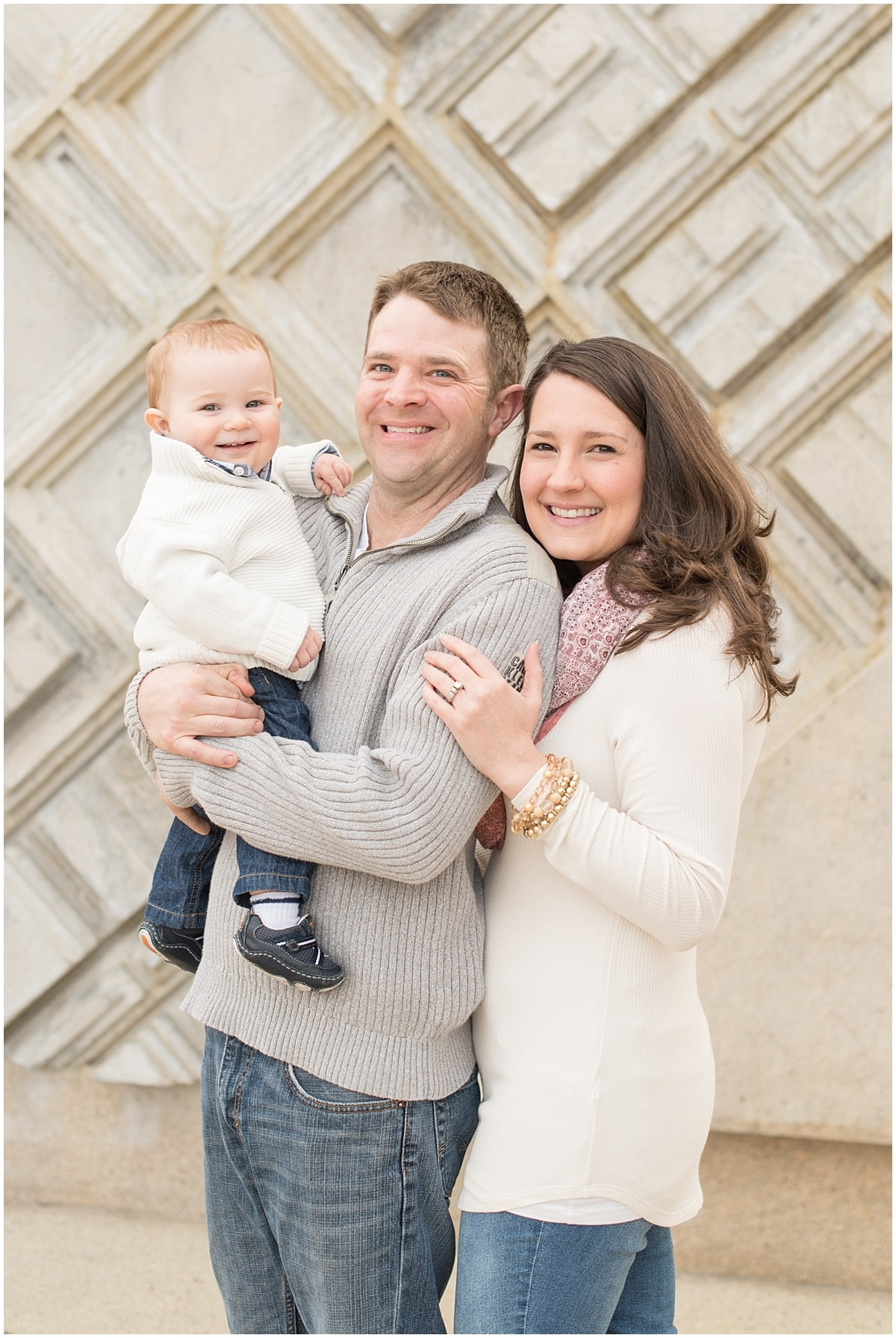 David, Colleen, and Joshua Jackson's family photos at Purdue University in West Lafayette, Indiana