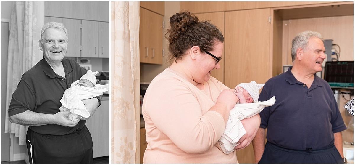 Victoria Rayburn Photography took Lukas Isenbarger's birth photos at IU Health Arnett Hospital in Lafayette, Indiana