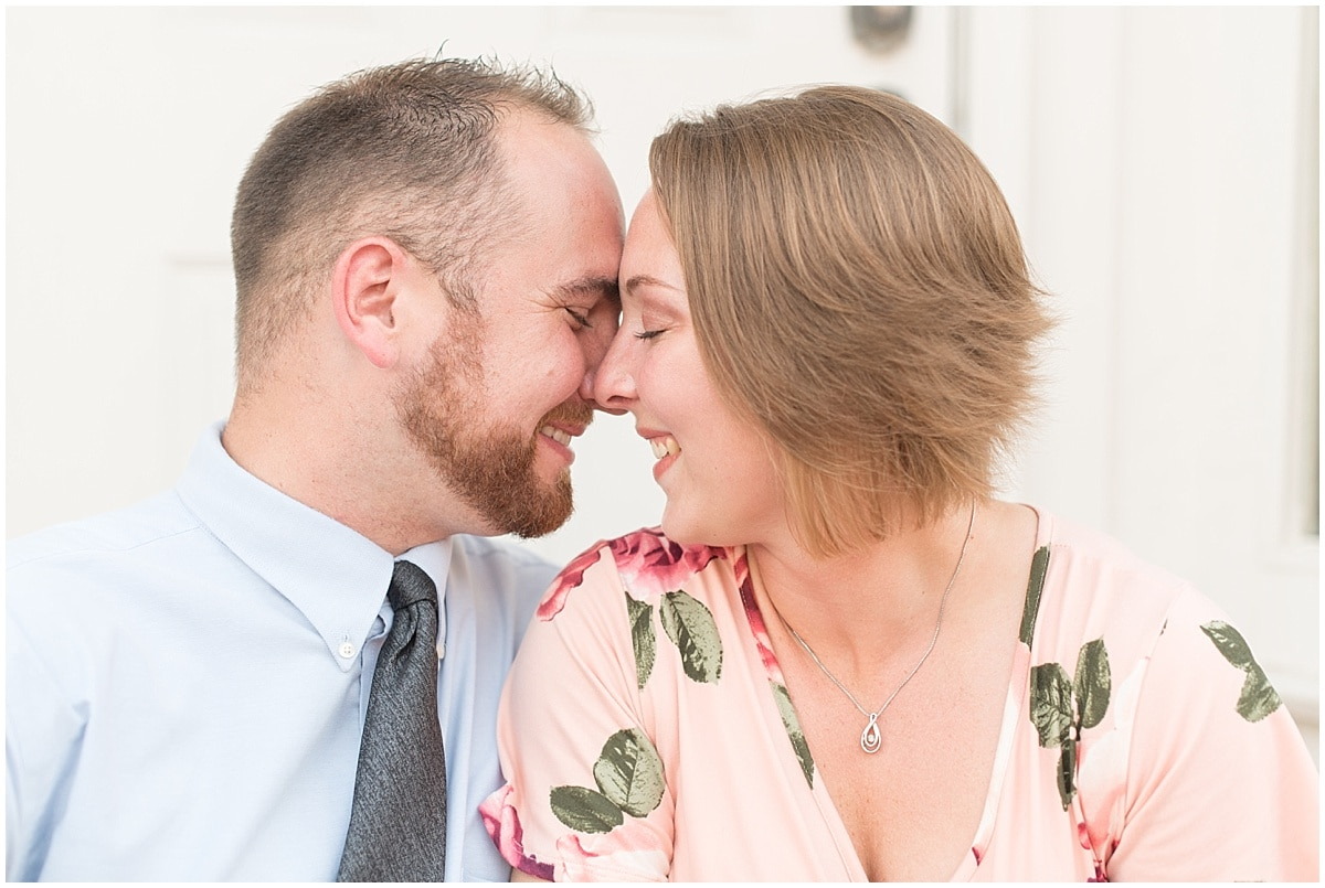 Delphi Mayor Shane Evans and Kate Hickner took their engagement photos in downtown Delphi, Indiana.