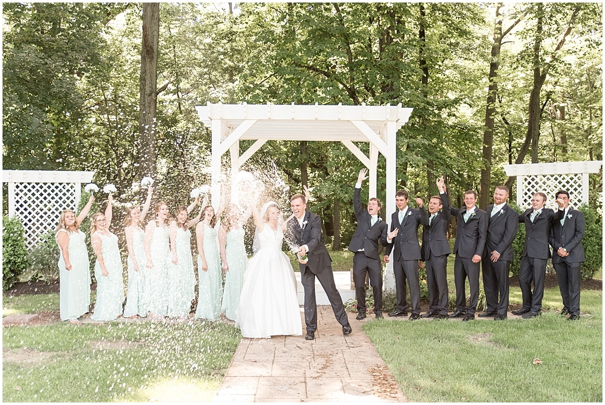 Mr. & Mrs. Randy Fortkamp's wedding at the Lafayette, Indiana Country Club was photographed by Victoria Rayburn Photography.