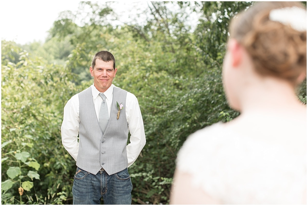 Jordan and Hanna Guimond had a country wedding at The Barn in Lafayette, Indiana.