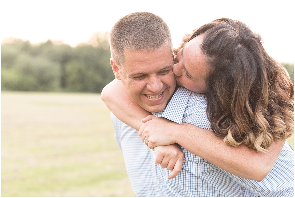 Rex Cullen and Jessica Dienes took their engagement photos at Deep River County Park with Victoria Rayburn Photography.