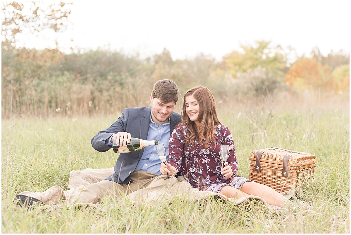 Logan Dexter and Becky Biancardi fall engagement photos at Fairfield Lakes Park in Lafayette Indiana 10.jpg