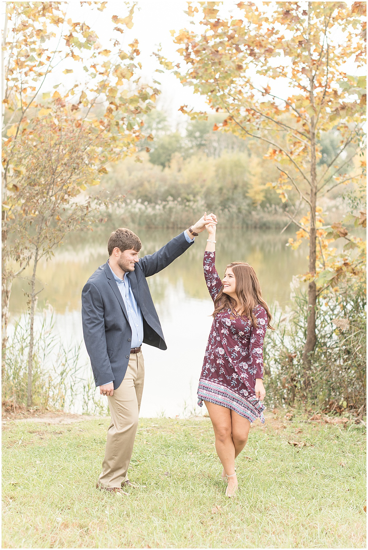 Logan Dexter and Becky Biancardi fall engagement photos at Fairfield Lakes Park in Lafayette Indiana 13.jpg