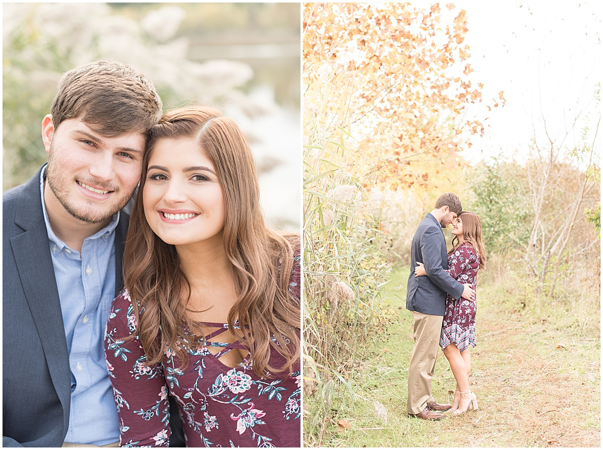 Logan Dexter and Becky Biancardi fall engagement photos at Fairfield Lakes Park in Lafayette Indiana 15.jpg