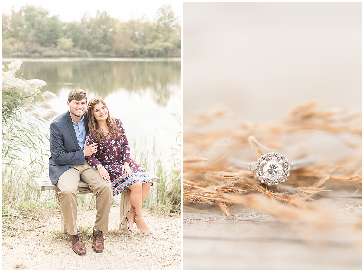 Logan Dexter and Becky Biancardi fall engagement photos at Fairfield Lakes Park in Lafayette Indiana 16.jpg