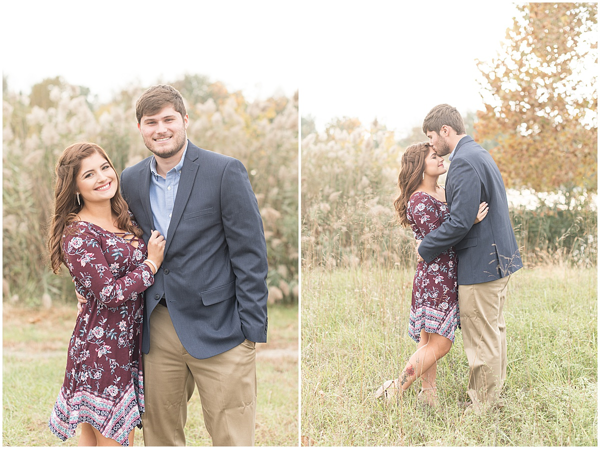 Logan Dexter and Becky Biancardi fall engagement photos at Fairfield Lakes Park in Lafayette Indiana 2.jpg