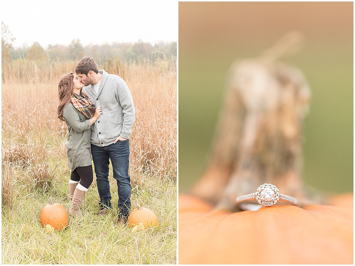 Logan Dexter and Becky Biancardi fall engagement photos at Fairfield Lakes Park in Lafayette Indiana 20.jpg