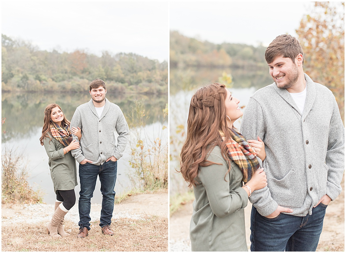 Logan Dexter and Becky Biancardi fall engagement photos at Fairfield Lakes Park in Lafayette Indiana 24.jpg