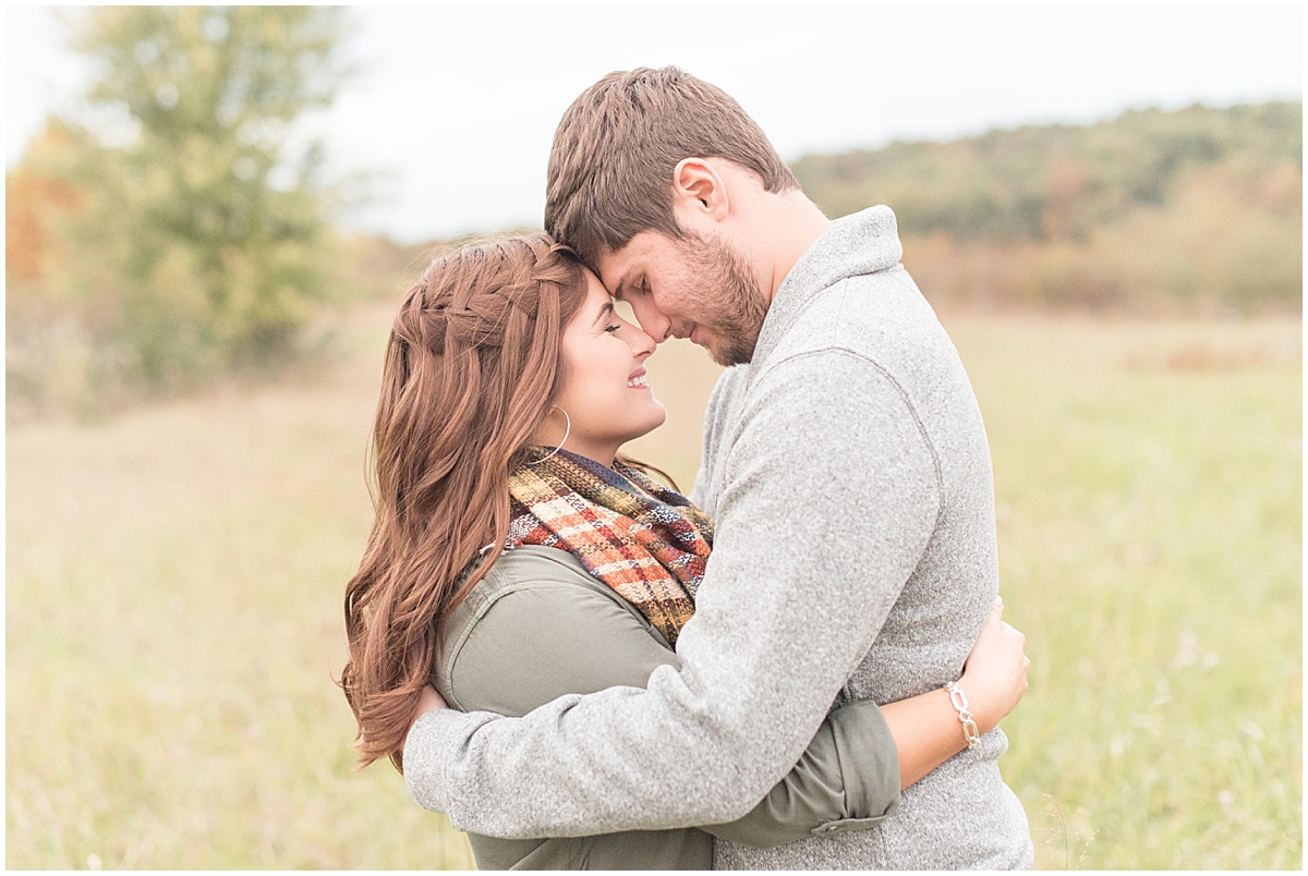 Logan Dexter and Becky Biancardi fall engagement photos at Fairfield Lakes Park in Lafayette Indiana 28.jpg