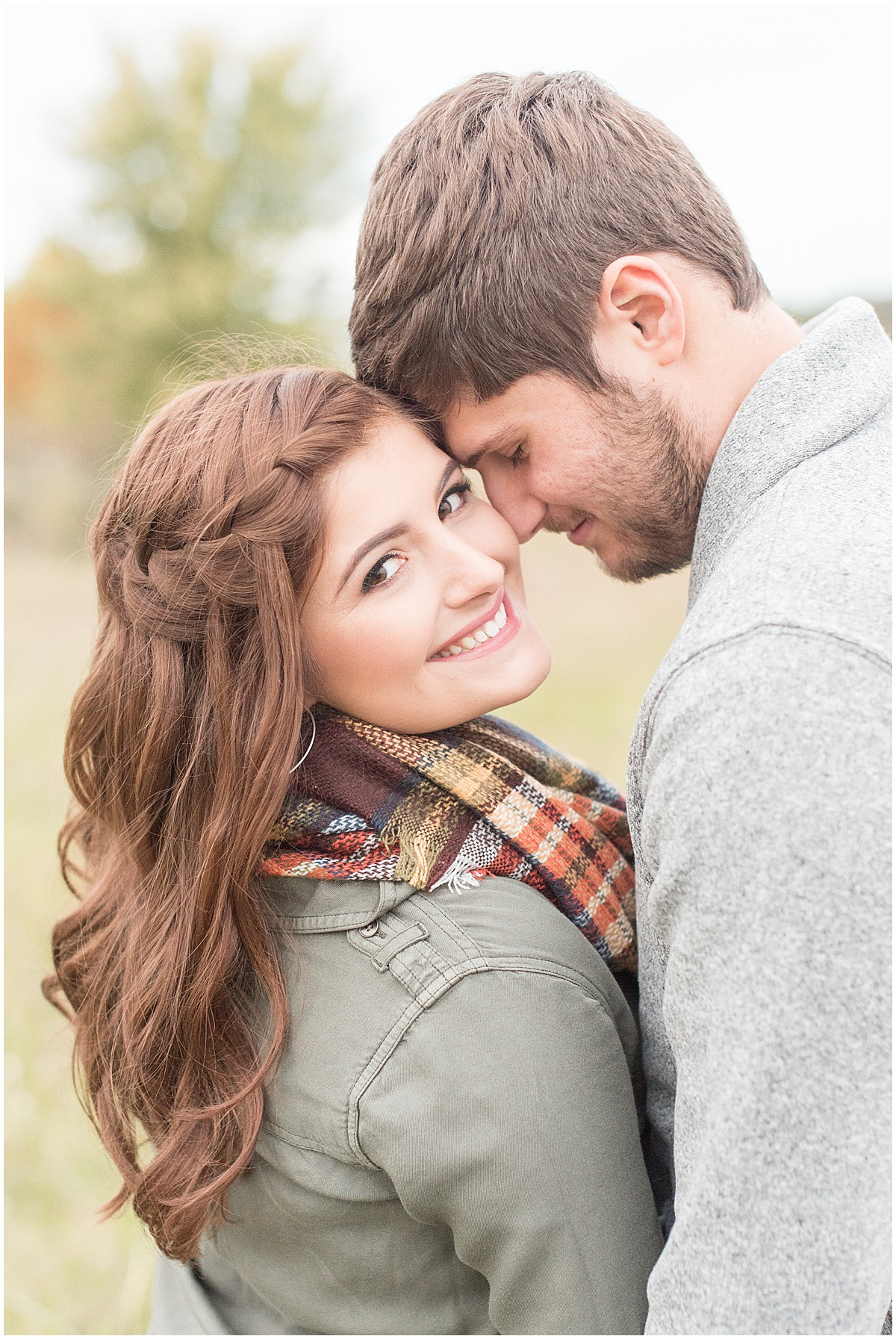 Logan Dexter and Becky Biancardi fall engagement photos at Fairfield Lakes Park in Lafayette Indiana 29.jpg