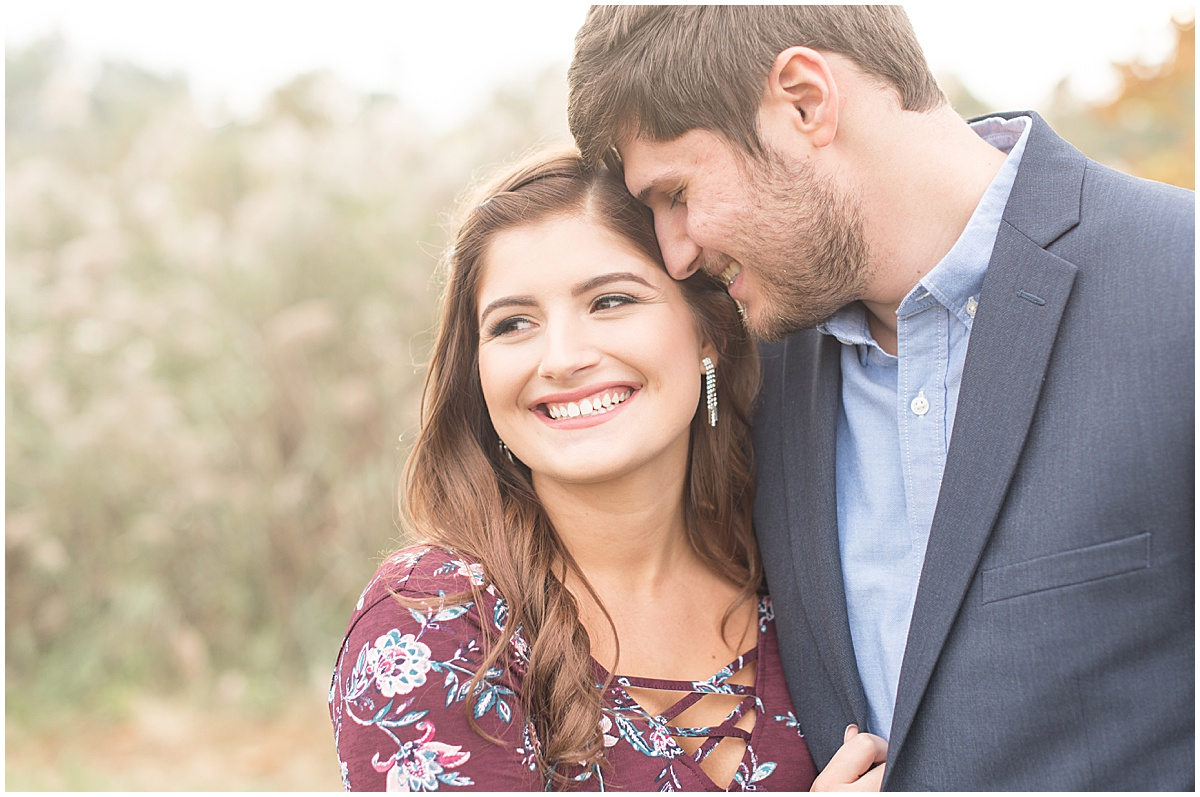 Logan Dexter and Becky Biancardi fall engagement photos at Fairfield Lakes Park in Lafayette Indiana 3.jpg