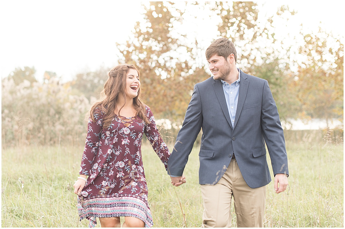 Logan Dexter and Becky Biancardi fall engagement photos at Fairfield Lakes Park in Lafayette Indiana 6.jpg