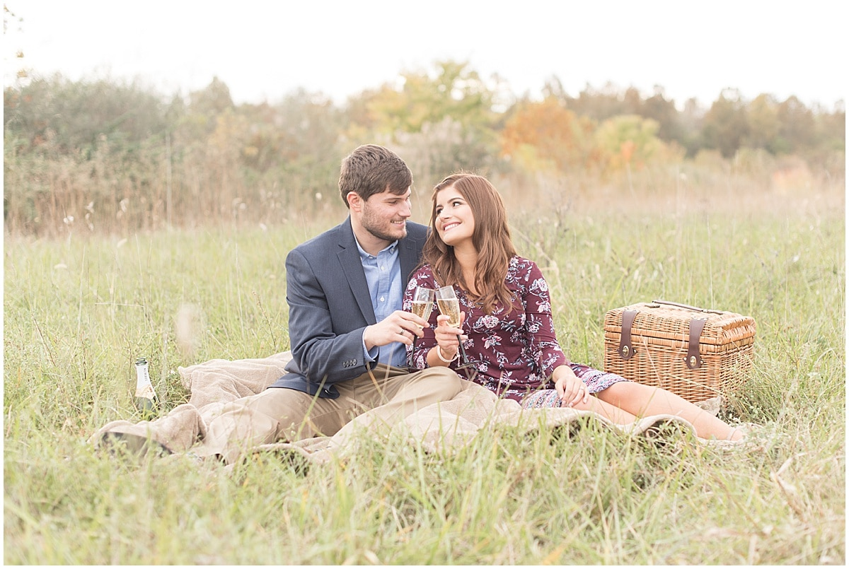 Logan Dexter and Becky Biancardi fall engagement photos at Fairfield Lakes Park in Lafayette Indiana 8.jpg