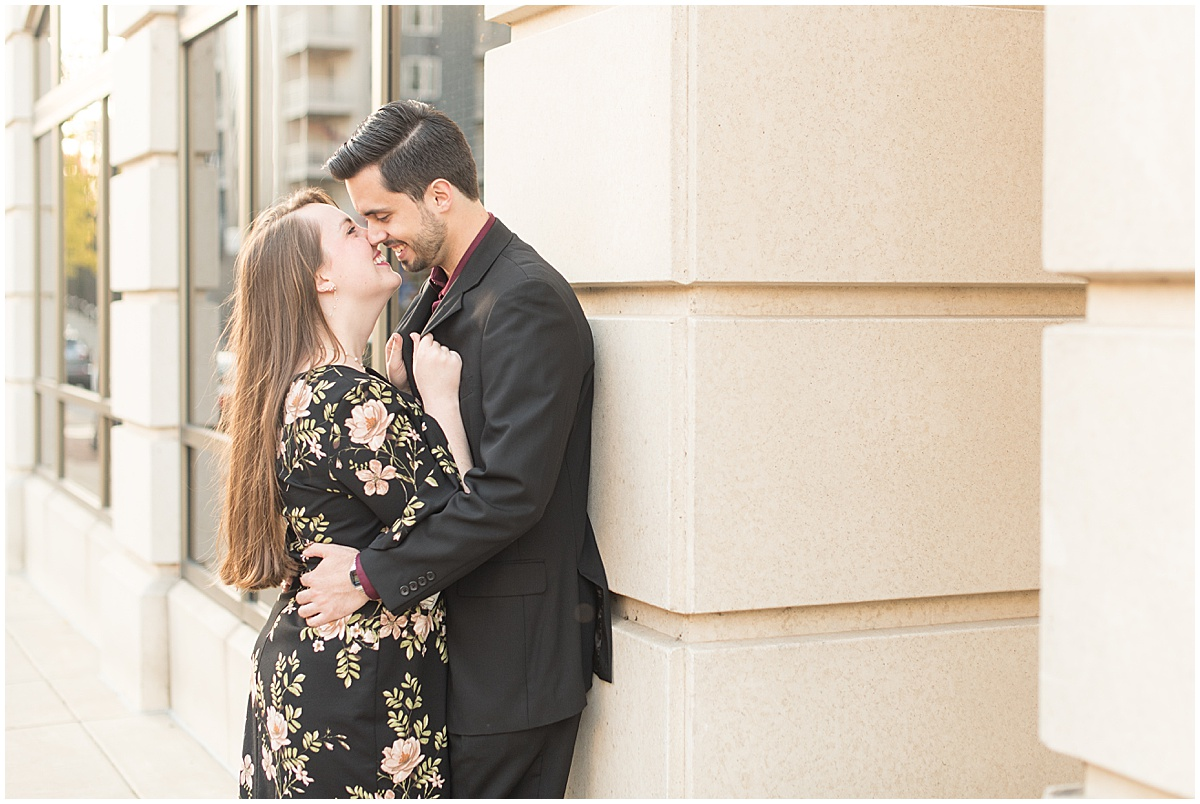 Nick Ballester and Madeline Pingel Engagement Session in Downtown Lafayette Indiana10.jpg