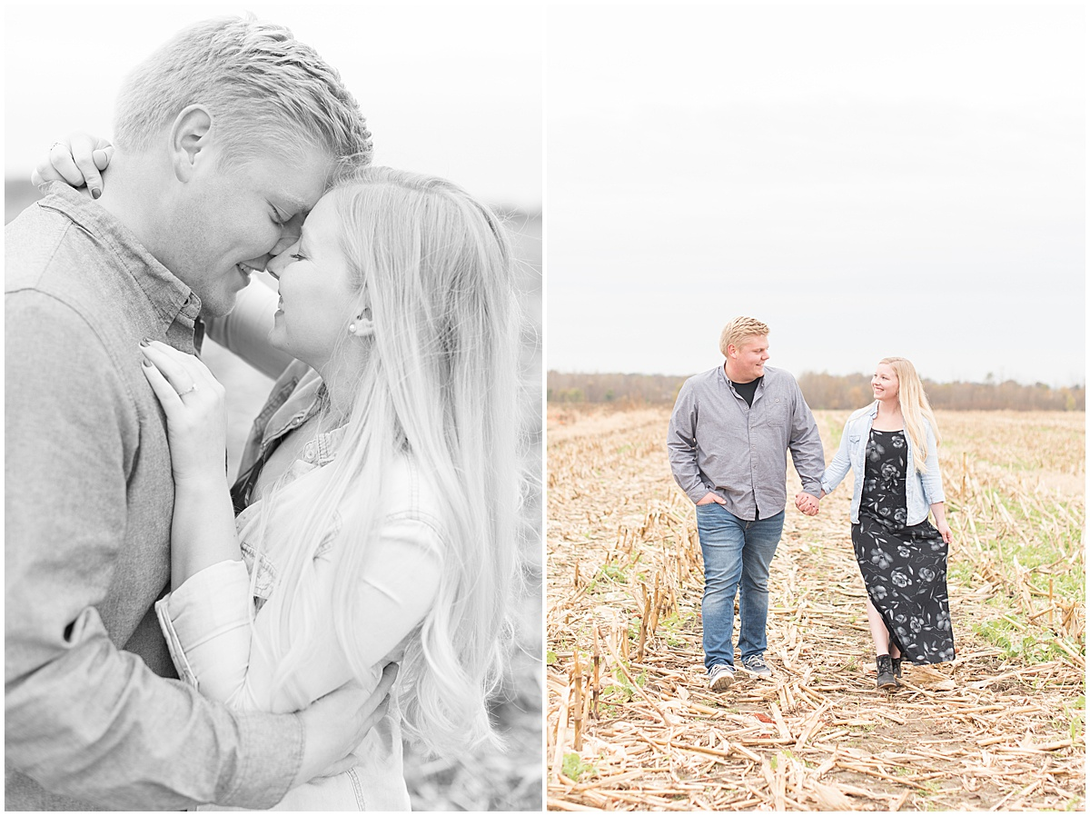 Tyler Van Wanzeele and Baileigh Fleming engagement photos at Wea Creek Orchard in Lafayette Indiana10.jpg