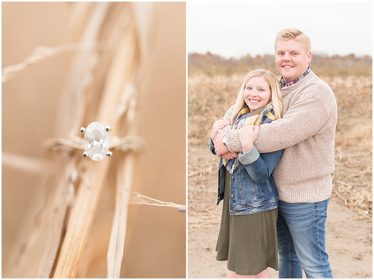 Tyler Van Wanzeele and Baileigh Fleming engagement photos at Wea Creek Orchard in Lafayette Indiana16.jpg