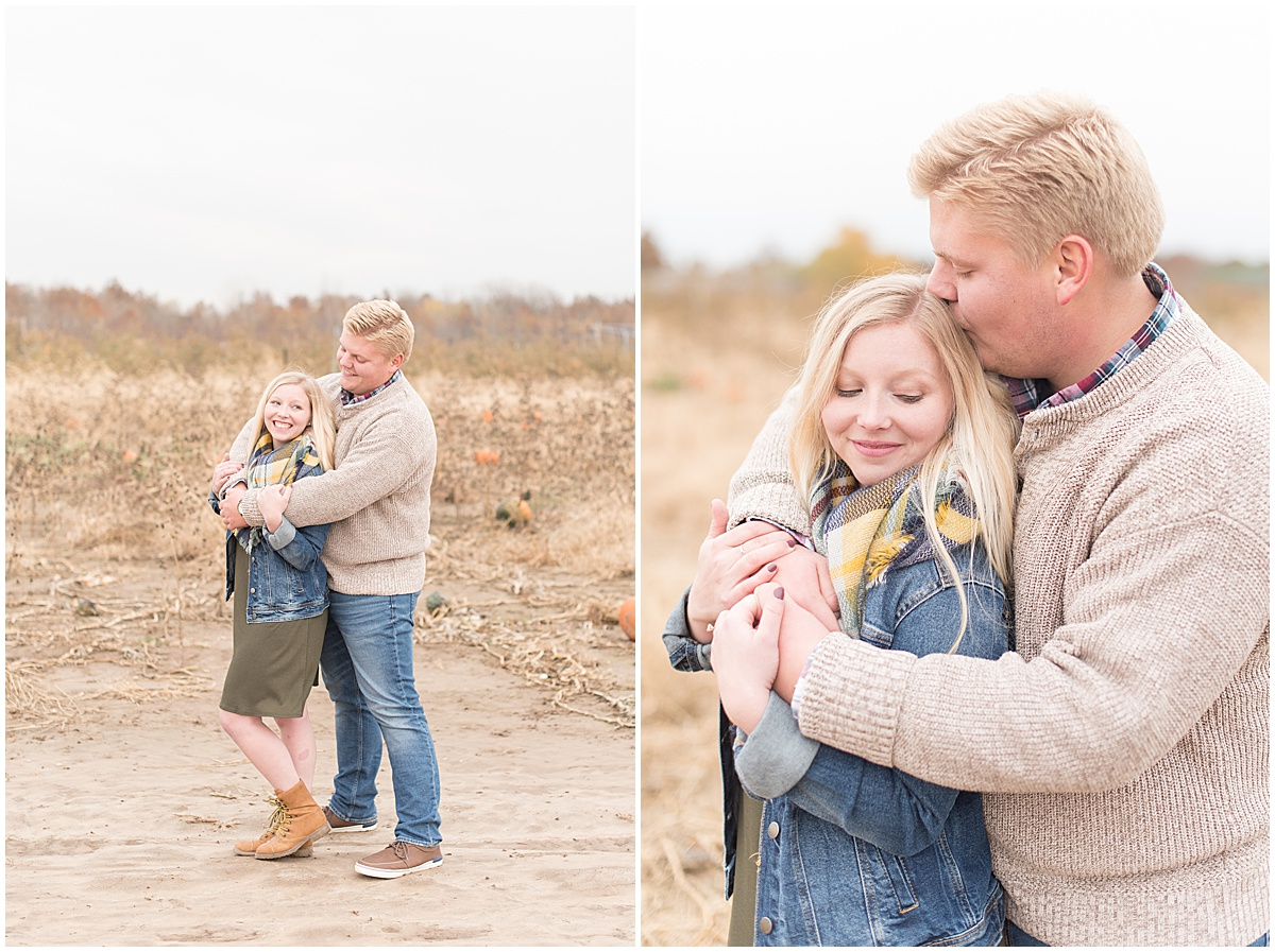 Tyler Van Wanzeele and Baileigh Fleming engagement photos at Wea Creek Orchard in Lafayette Indiana18.jpg