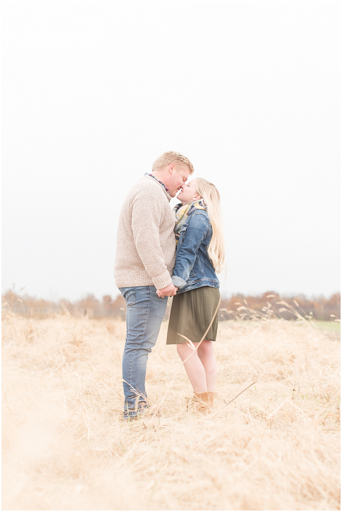 Tyler Van Wanzeele and Baileigh Fleming engagement photos at Wea Creek Orchard in Lafayette Indiana19.jpg