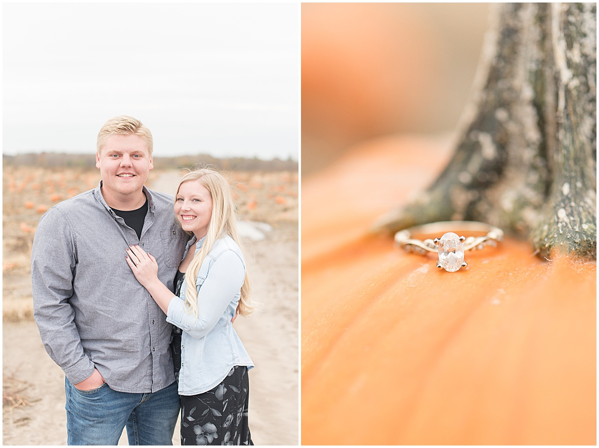 Tyler Van Wanzeele and Baileigh Fleming engagement photos at Wea Creek Orchard in Lafayette Indiana2.jpg