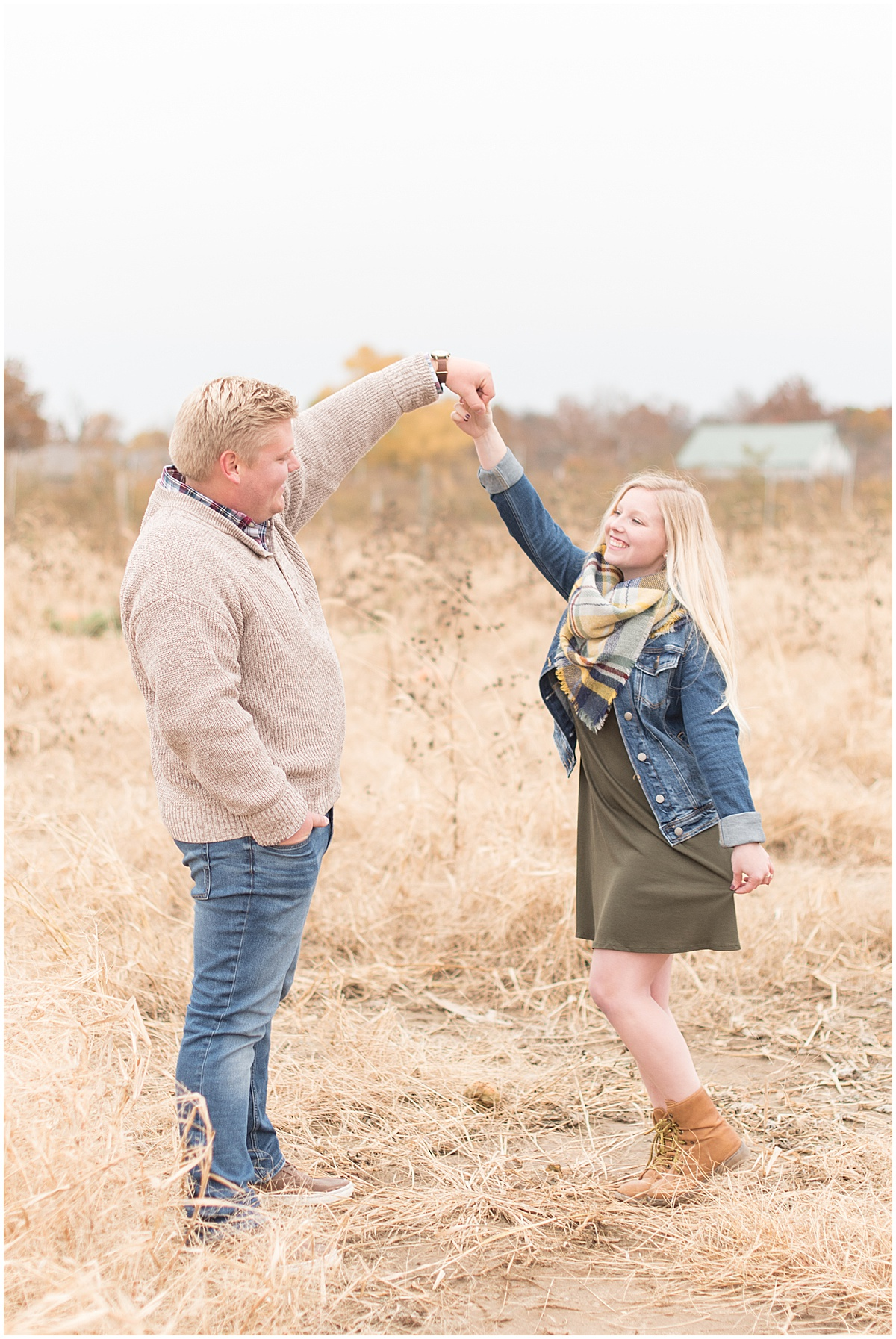 Tyler Van Wanzeele and Baileigh Fleming engagement photos at Wea Creek Orchard in Lafayette Indiana21.jpg