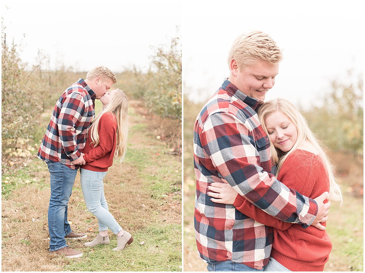 Tyler Van Wanzeele and Baileigh Fleming engagement photos at Wea Creek Orchard in Lafayette Indiana26.jpg