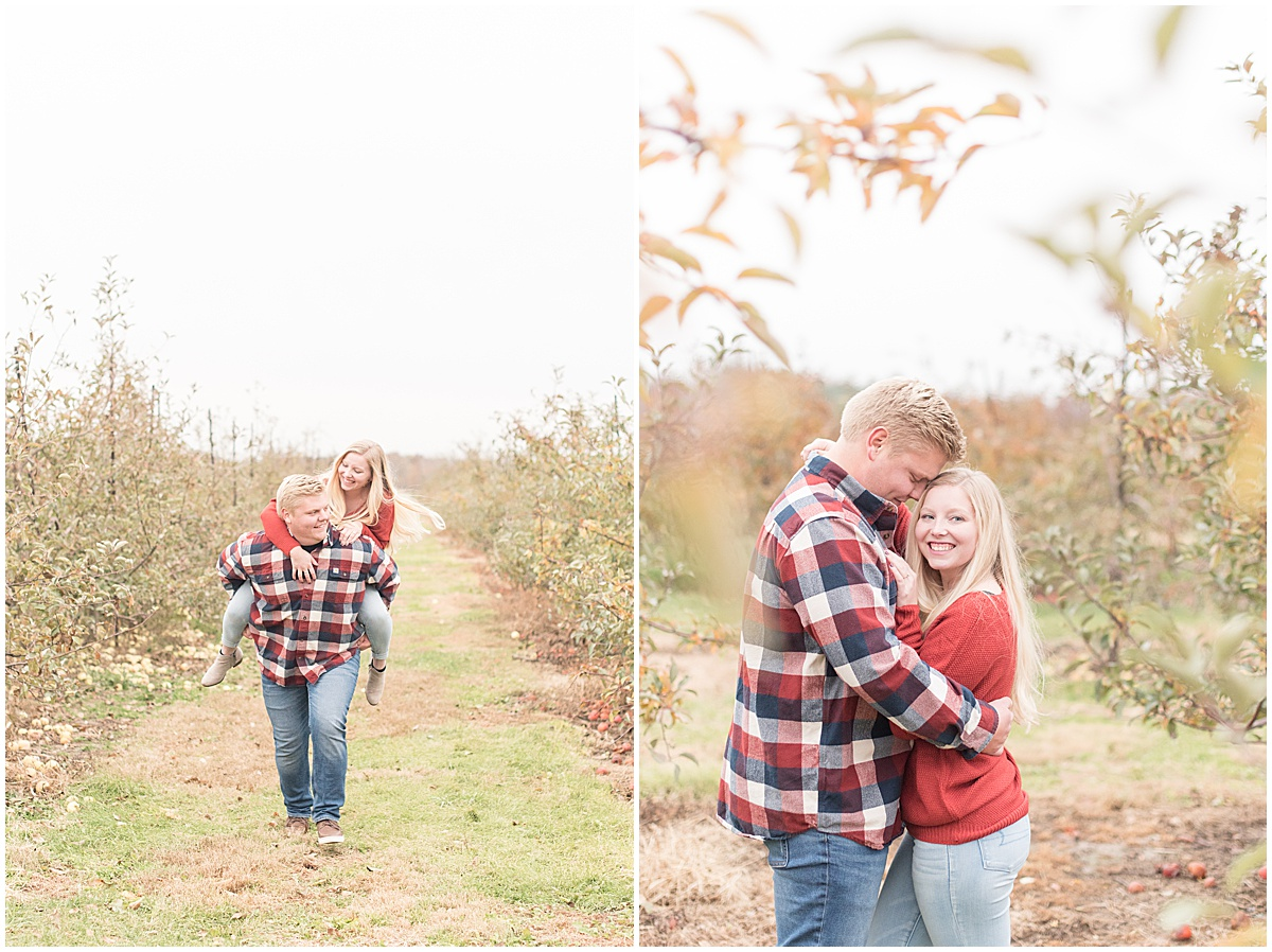 Tyler Van Wanzeele and Baileigh Fleming engagement photos at Wea Creek Orchard in Lafayette Indiana28.jpg