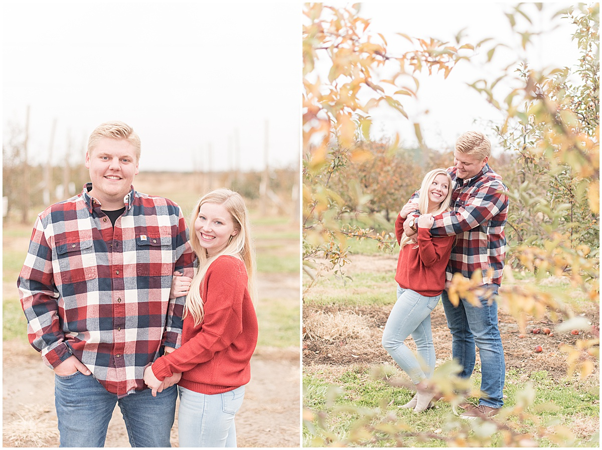 Tyler Van Wanzeele and Baileigh Fleming engagement photos at Wea Creek Orchard in Lafayette Indiana29.jpg