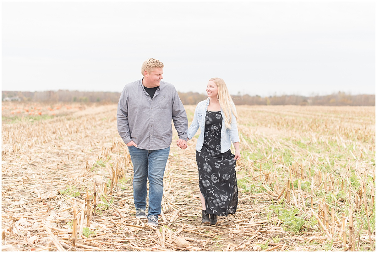 Tyler Van Wanzeele and Baileigh Fleming engagement photos at Wea Creek Orchard in Lafayette Indiana3.jpg