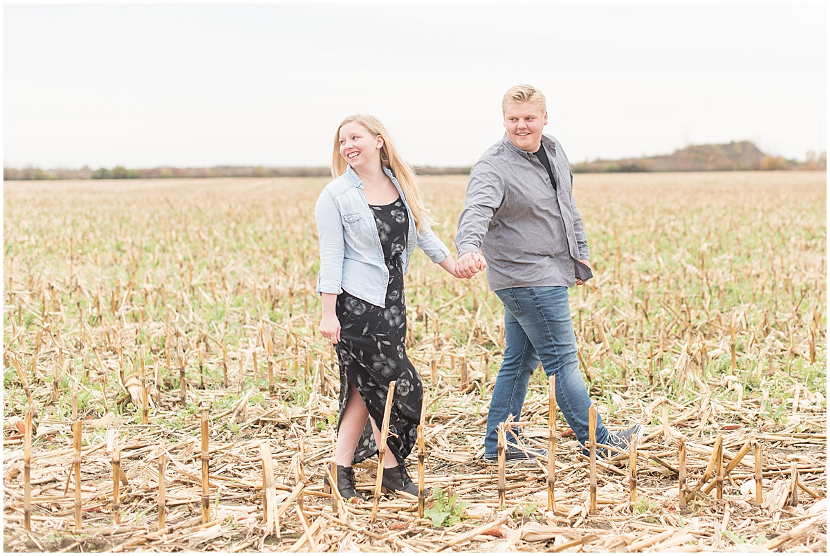 Tyler Van Wanzeele and Baileigh Fleming engagement photos at Wea Creek Orchard in Lafayette Indiana5.jpg