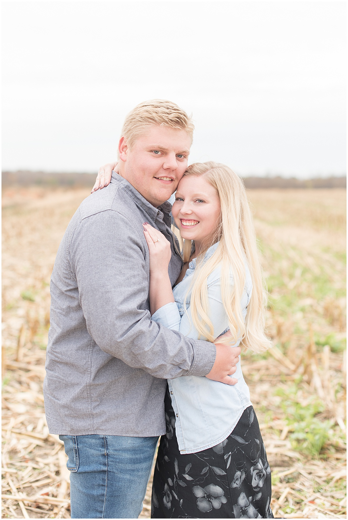 Tyler Van Wanzeele and Baileigh Fleming engagement photos at Wea Creek Orchard in Lafayette Indiana9.jpg