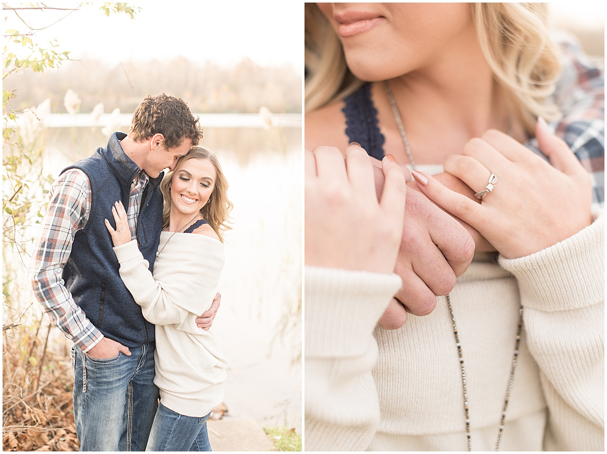 Wyatt Willson and Kaelyn Shircliff engagement session at Fairfield Lakes Park in Lafayette Indiana 1.jpg