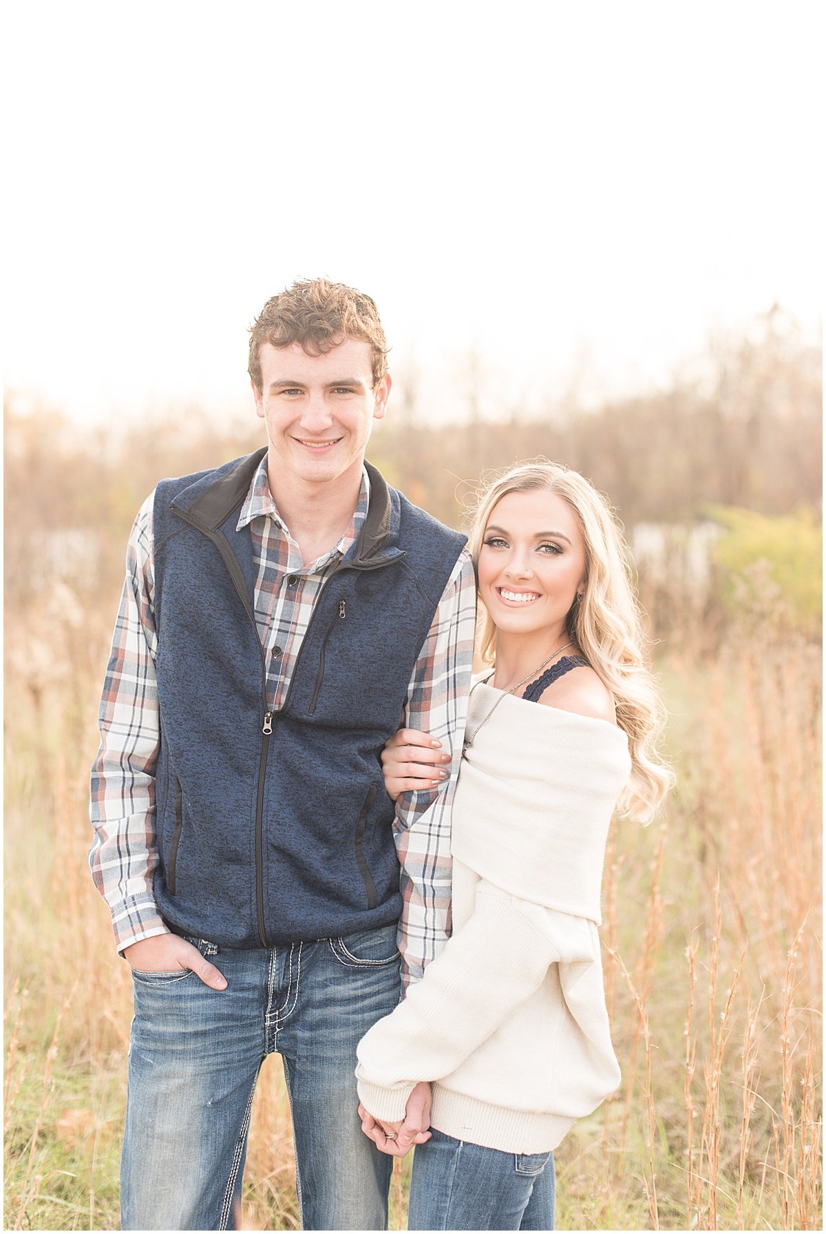 Wyatt Willson and Kaelyn Shircliff engagement session at Fairfield Lakes Park in Lafayette Indiana 13.jpg