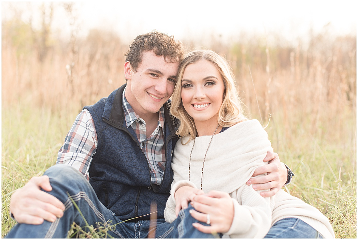 Wyatt Willson and Kaelyn Shircliff engagement session at Fairfield Lakes Park in Lafayette Indiana 20.jpg