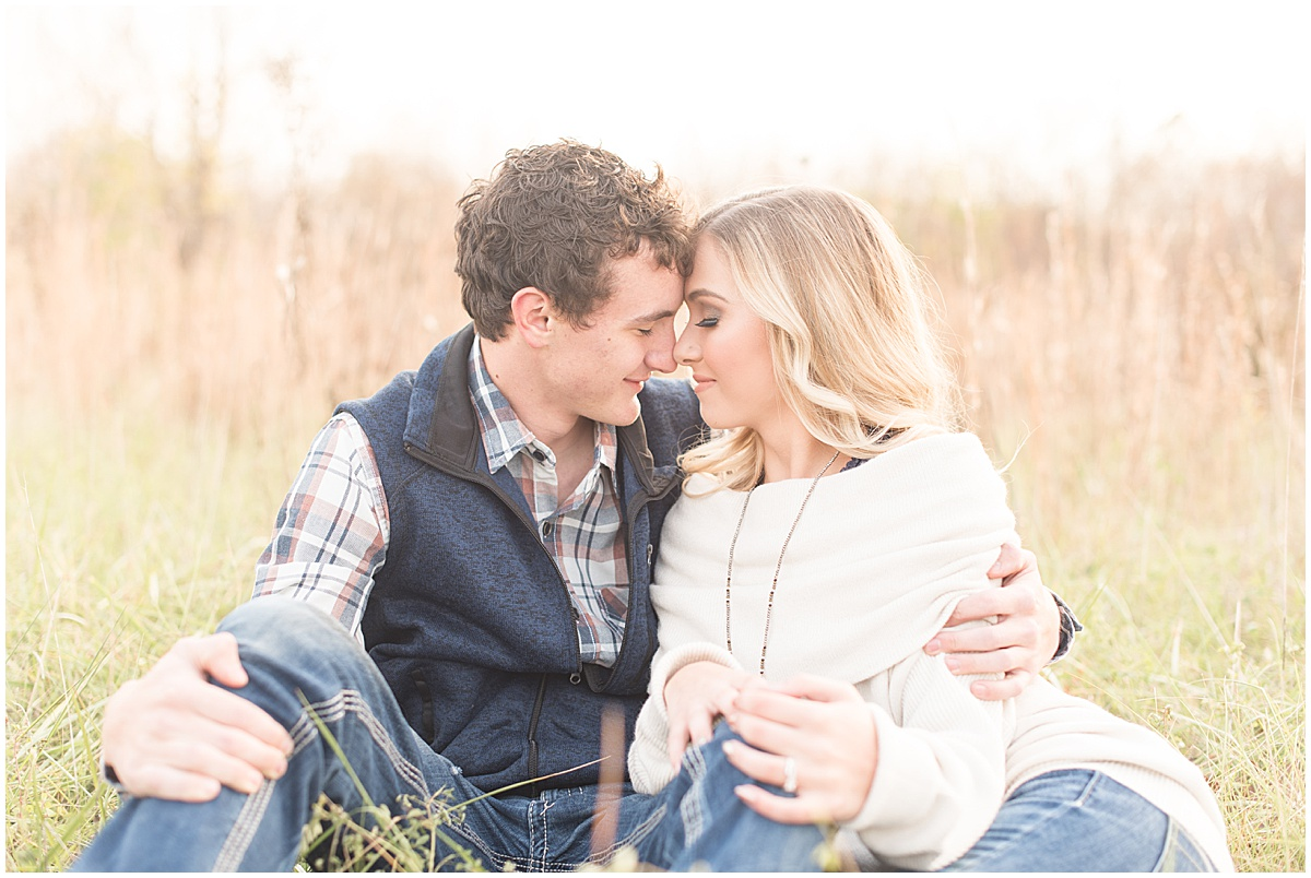 Wyatt Willson and Kaelyn Shircliff engagement session at Fairfield Lakes Park in Lafayette Indiana 21.jpg