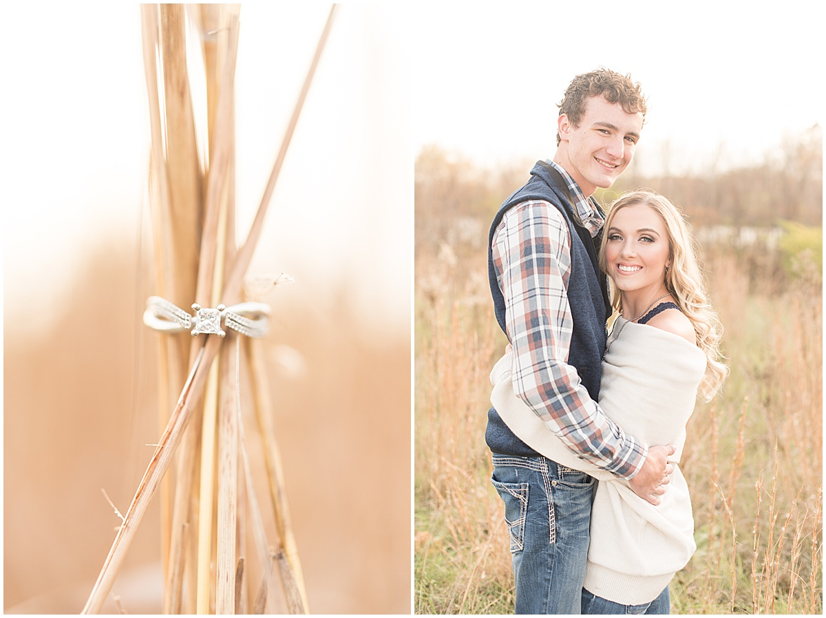 Wyatt Willson and Kaelyn Shircliff engagement session at Fairfield Lakes Park in Lafayette Indiana 22.jpg