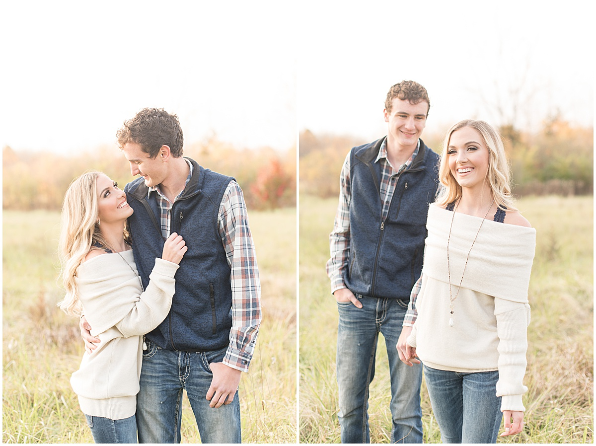 Wyatt Willson and Kaelyn Shircliff engagement session at Fairfield Lakes Park in Lafayette Indiana 24.jpg