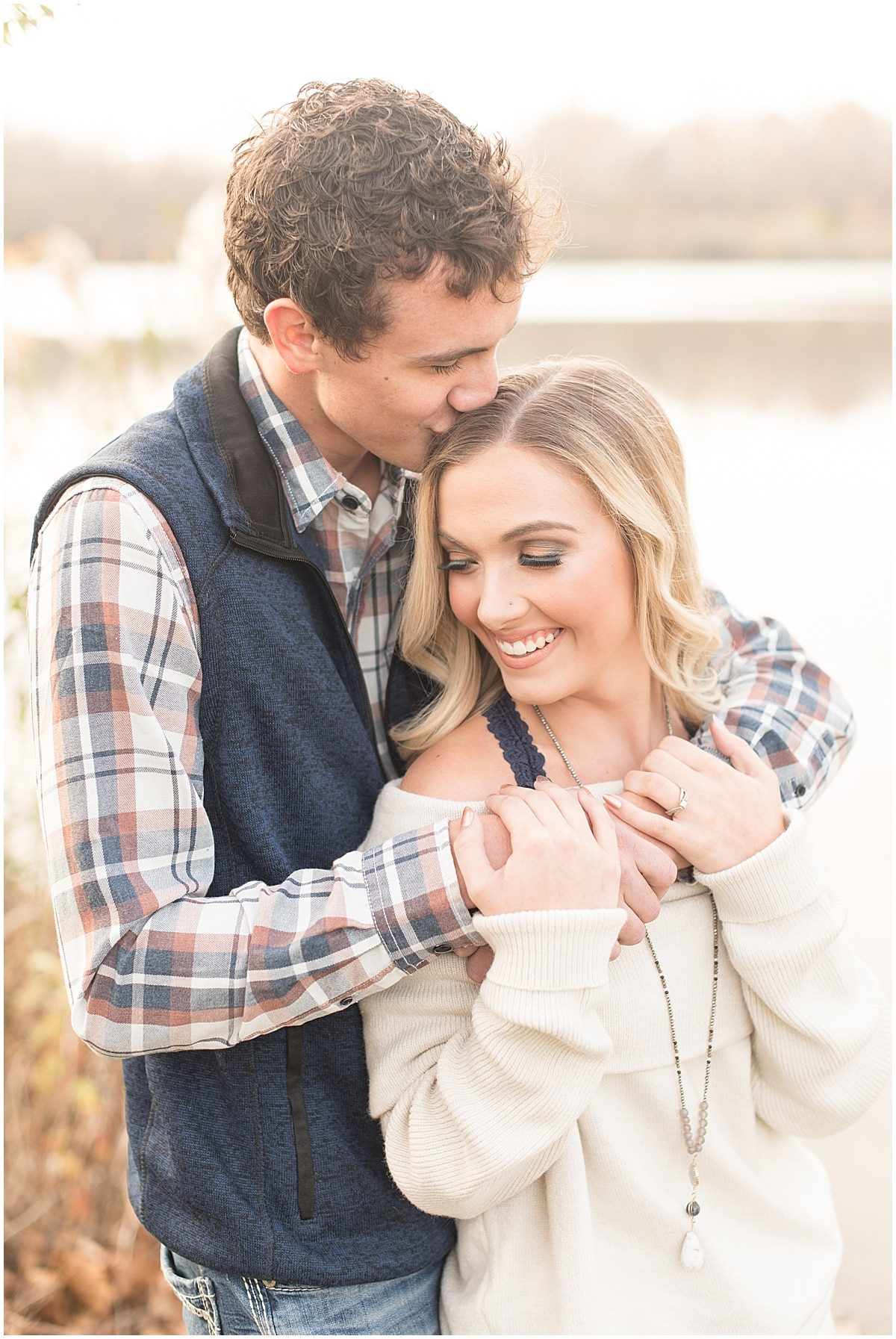 Wyatt Willson and Kaelyn Shircliff engagement session at Fairfield Lakes Park in Lafayette Indiana 3.jpg