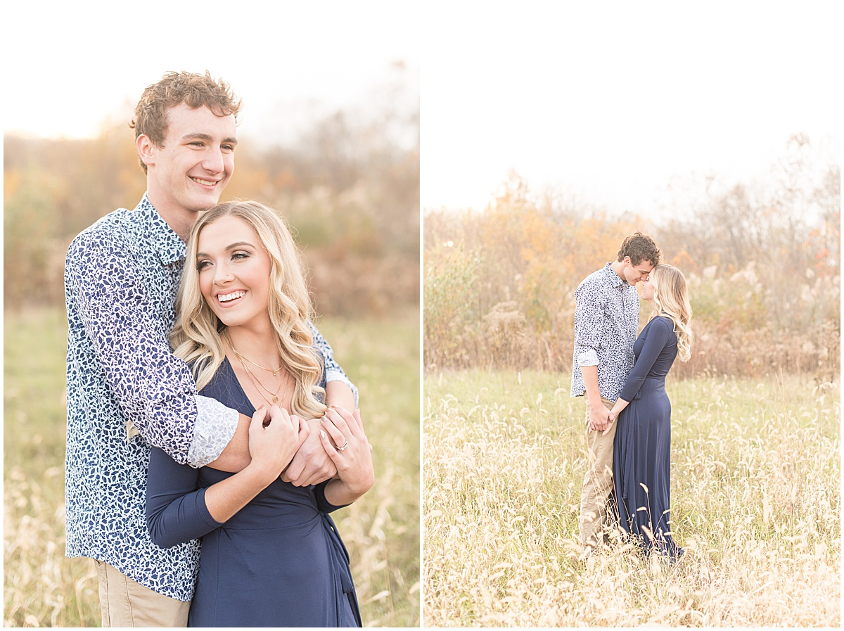 Wyatt Willson and Kaelyn Shircliff engagement session at Fairfield Lakes Park in Lafayette Indiana 30.jpg