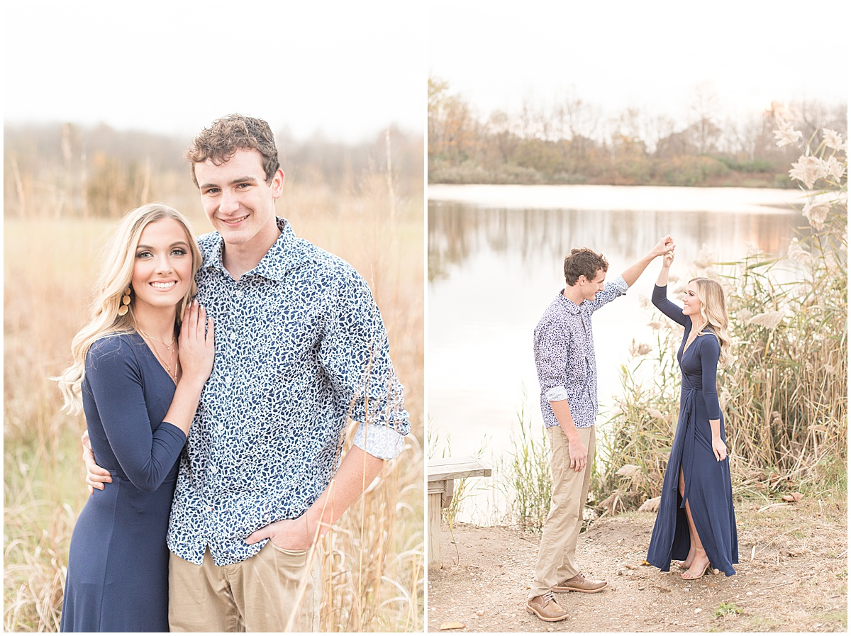 Wyatt Willson and Kaelyn Shircliff engagement session at Fairfield Lakes Park in Lafayette Indiana 40.jpg