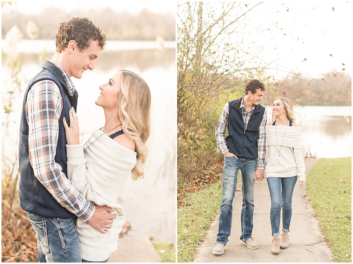 Wyatt Willson and Kaelyn Shircliff engagement session at Fairfield Lakes Park in Lafayette Indiana 5.jpg