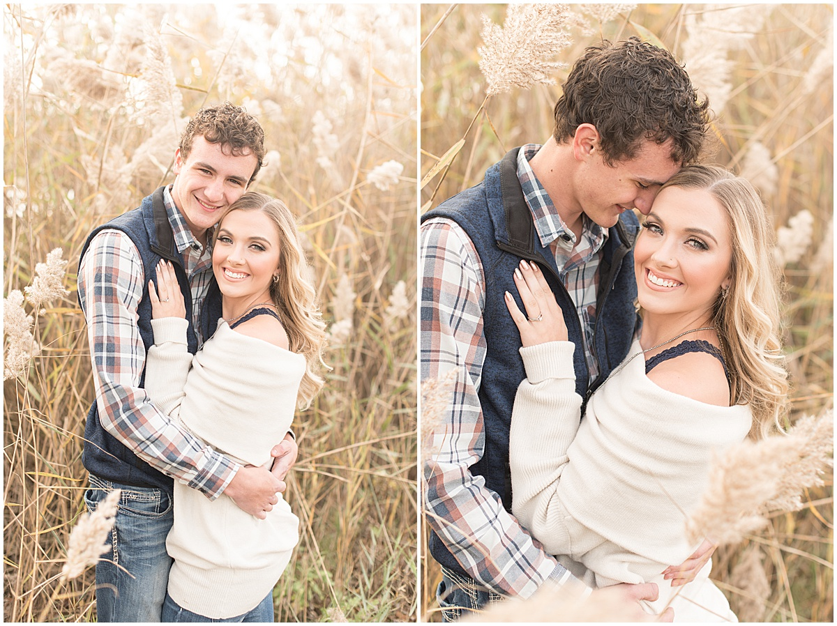 Wyatt Willson and Kaelyn Shircliff engagement session at Fairfield Lakes Park in Lafayette Indiana 8.jpg