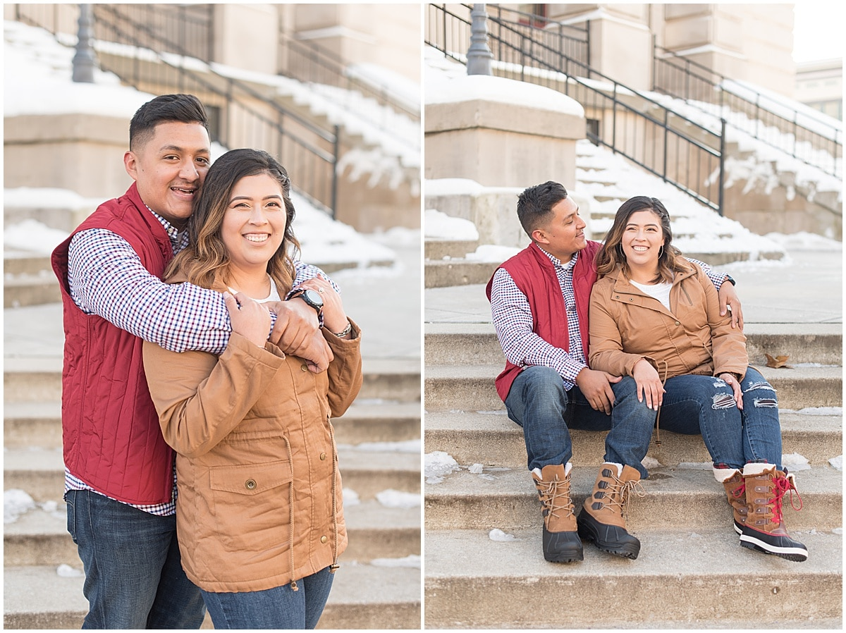 Jose & Carolina - Engagement Photos in Downtown Lafayette Indiana9.jpg